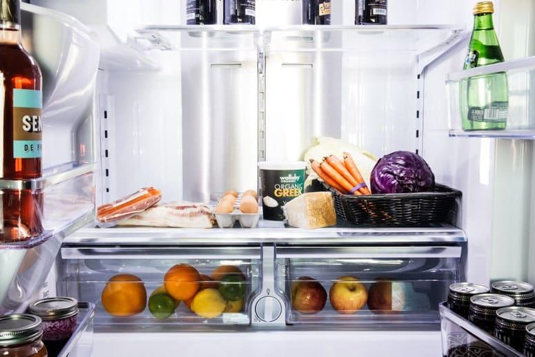 La imagen puede contener: electrodoméstico, refrigerador y planta