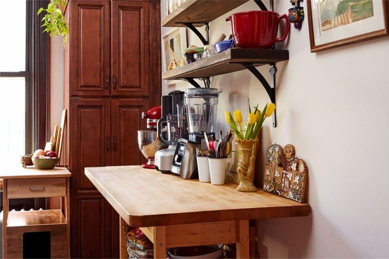 Foto de la encimera de la cocina de Anna Stockwell.