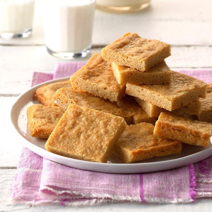 Cuadrados de sartén de mantequilla de maní masticables Exps Bdsmz17 8623 C03 02 4b 5