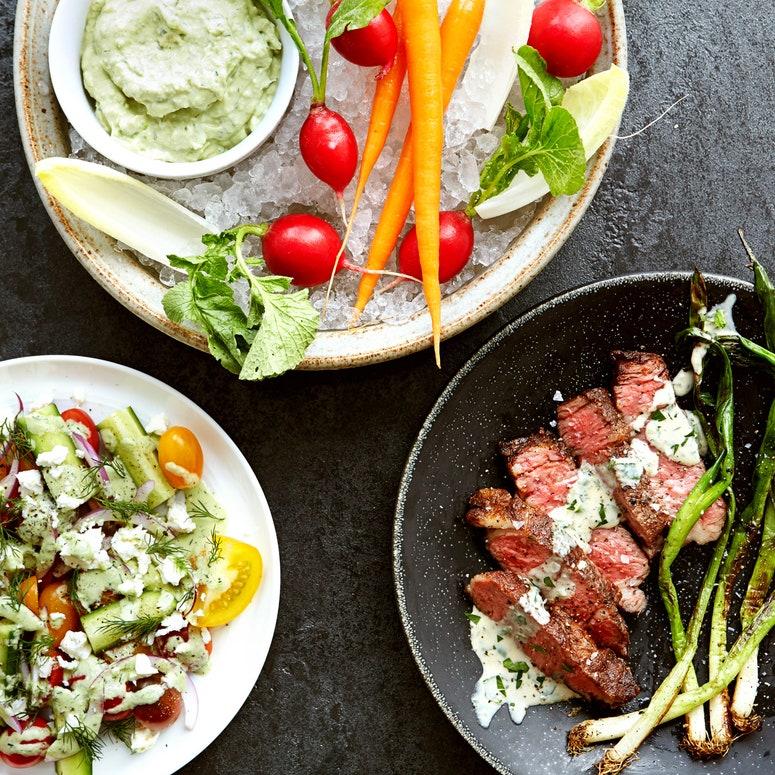 La imagen puede contener Ensalada y vegetales de comida Plato de comida