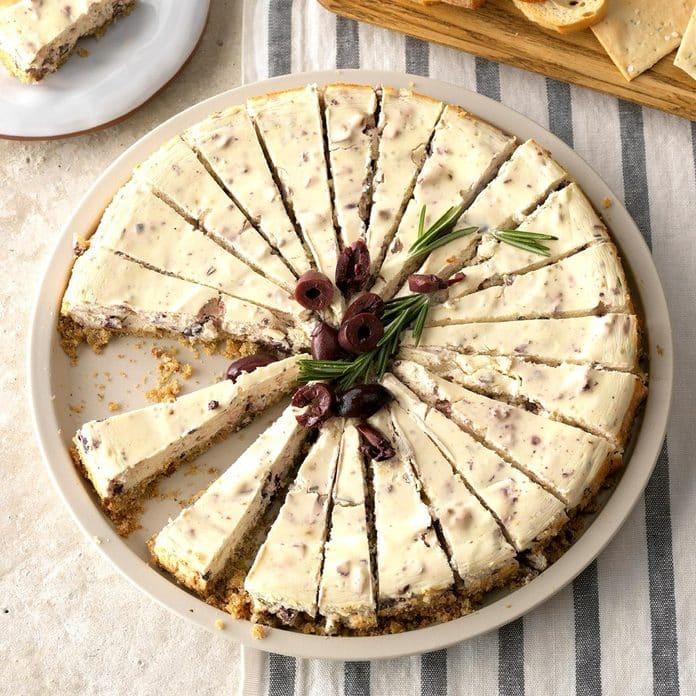 Aperitivo de tarta de queso Kalamata Exps Thca19 146229 C08 22 2b 4