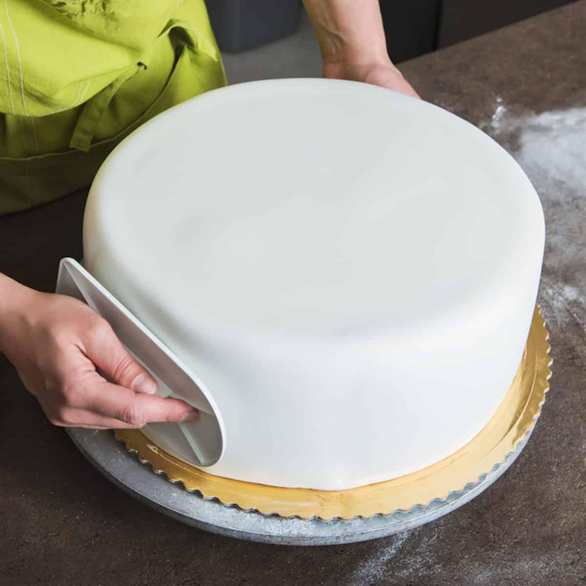 panadero de la torta de la pasta de azúcar